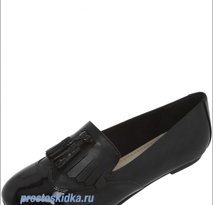Туфли Clarks GIN CRUSH black combi leather