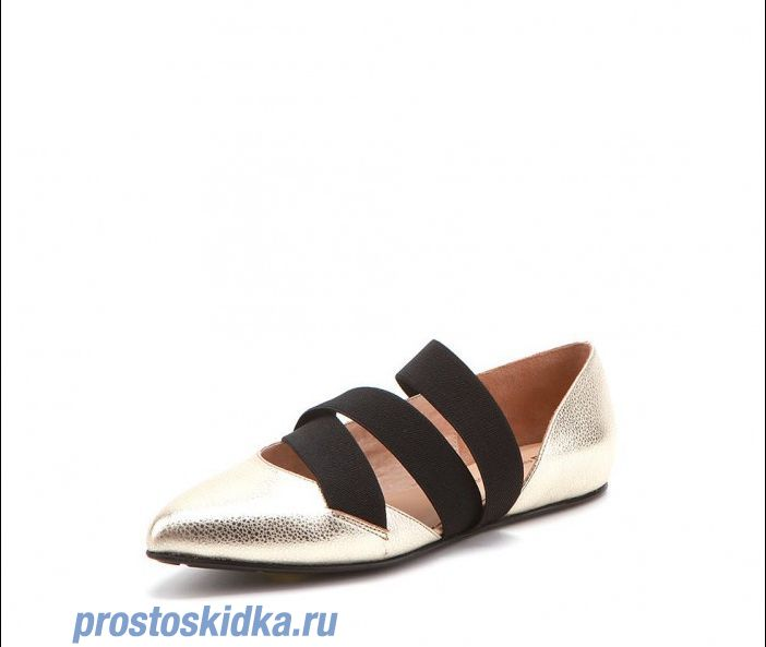 Туфли United Nude Jazz Lo Gold + Black